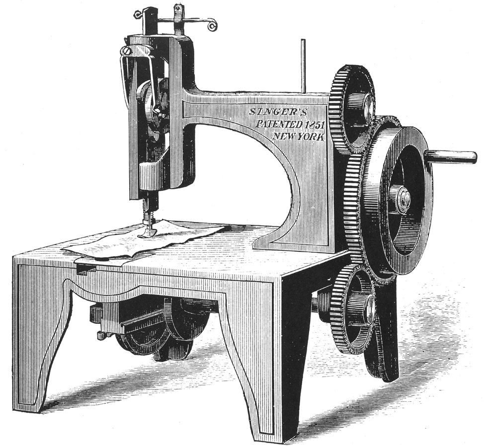 أول ماكينة سنجر ظهرت عام 1851