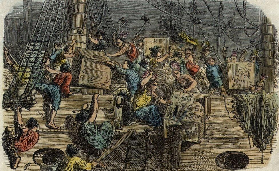 صورة للهجوم على السفن البريطانية