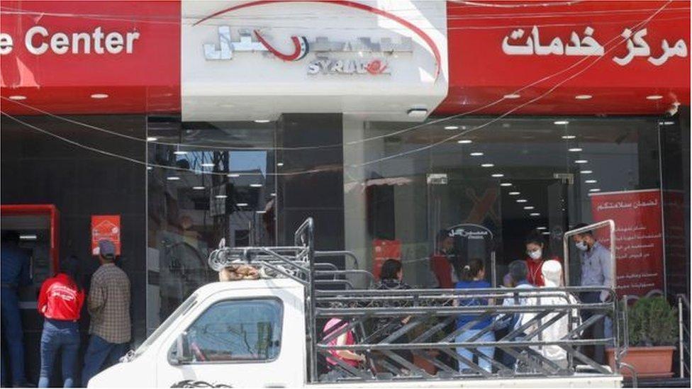 مصدر ثروة مخلوف شبكة الهواتف المحمولة في سوريا