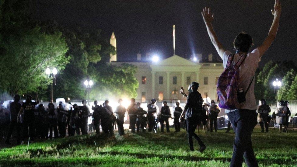الشرطة خارج البيت الأبيض