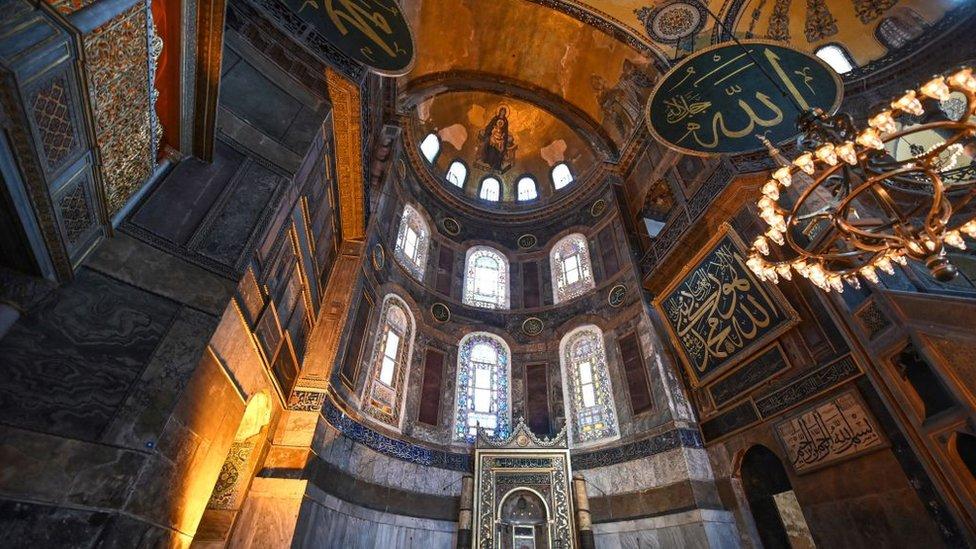آيا صوفيا ظلت متحفا دينيا منذ عام 1934