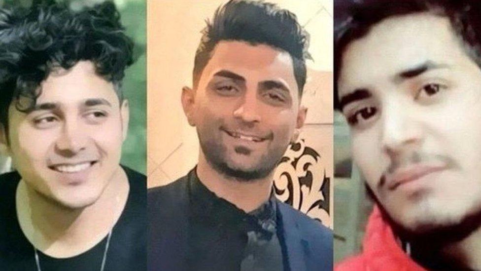أمير حسين مرادي ومحمد رجبي وسعيد تمجيدي