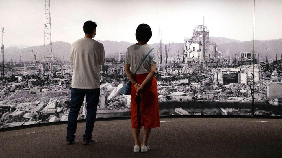 لم يتبق سوى القليل من المنازل والمباني بالقرب من موقع الانفجار في هيروشيما