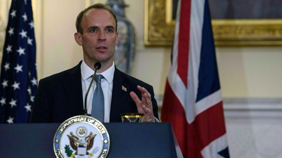 دومينيك راب وزير الخارجية البريطاني