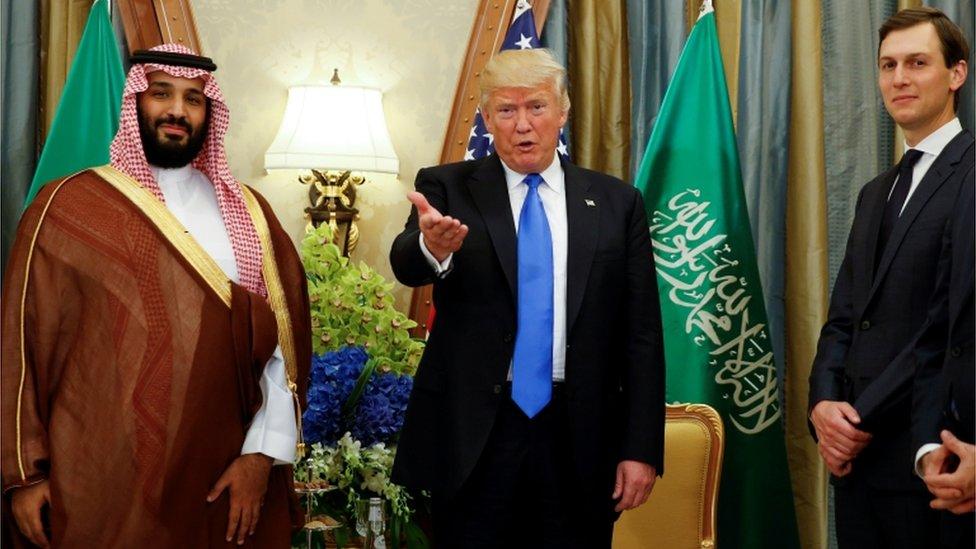 جاريد كوشنر ودونالد ترامب ومحمد بن سلمان