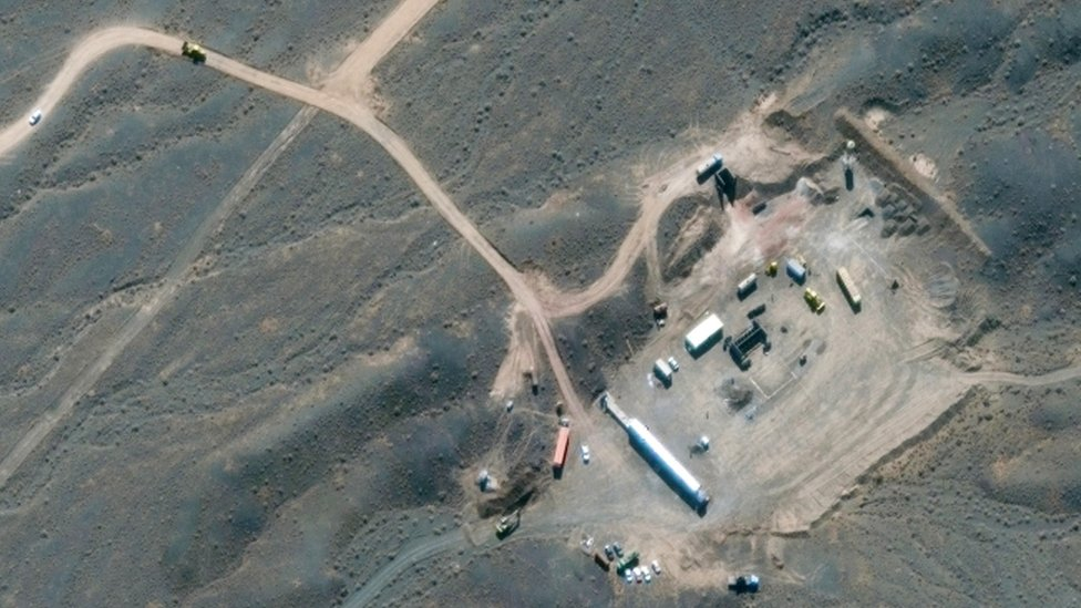 صورة من الأقمار الصناعية تظهر منشأة نطنز النووية الإيرانية في أصفهان، إيران، 21 أكتوبر/تشرين الأول 2020