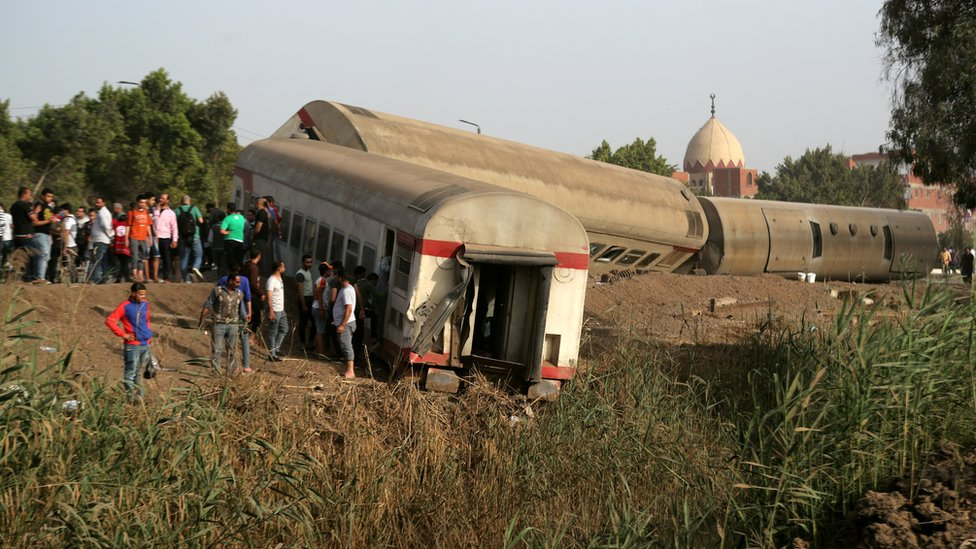 حادث قطار مصر