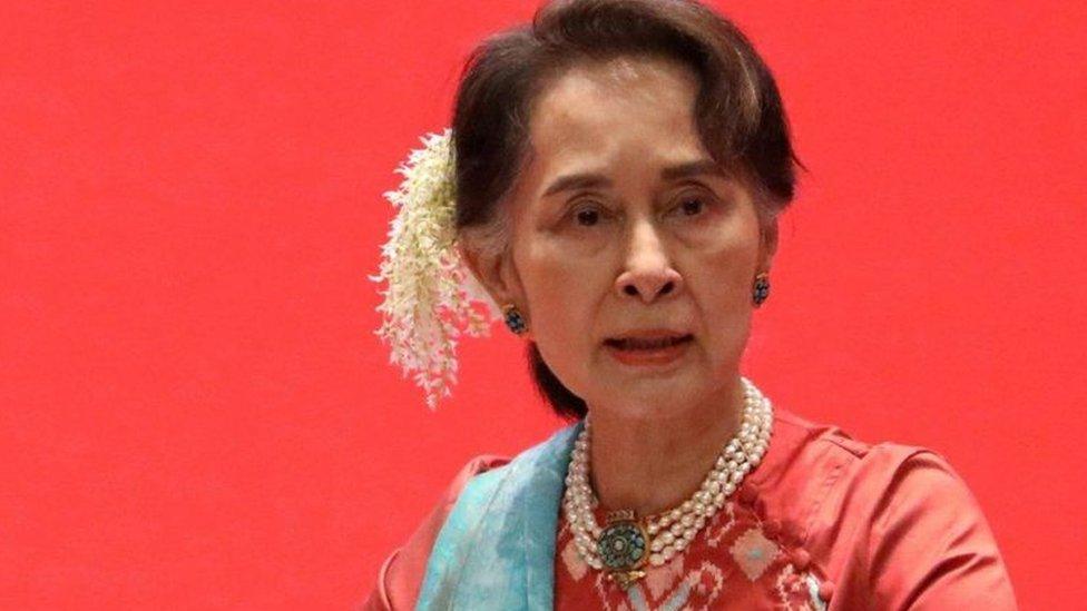 مستشارة الدولة السابقة أون سان سو تشي
