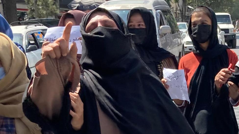 احتجاجات النساء ضد حكم طالبان