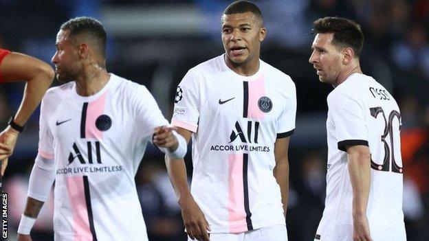 ميسي بقميص باريس سان جيرمان لأول مرة في دوري أبطال أوروبا