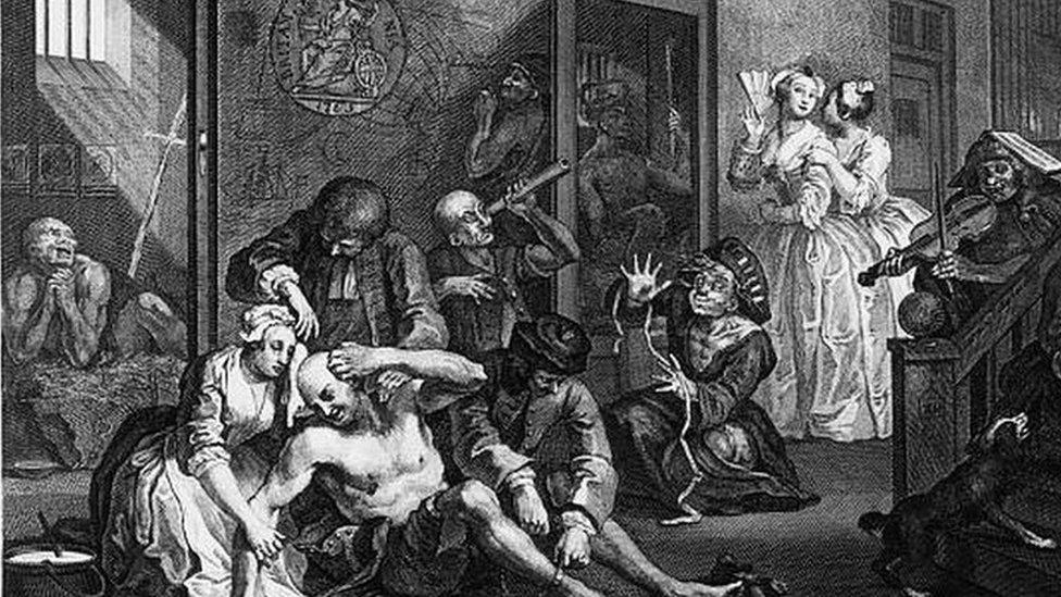 رسم من داخل مستشفى بيثلم يعود لعام 1735